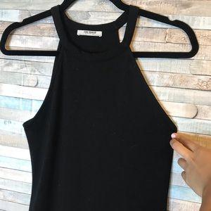 Zara halter neck basic dress black plain